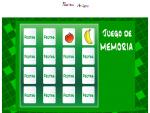 Cards: Frutas y verduras