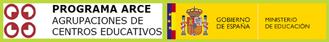 Logotipos Patrocinadores: Pryecto ARCE y Ministerio Educacion